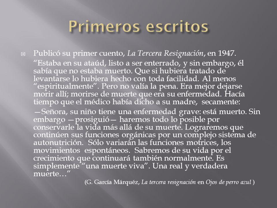En 1955 publicó su primera novela, La Hojarasca, que tuve excelentes críticas pero poco éxito de ventas.