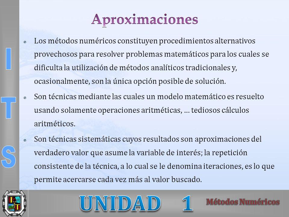 Los métodos numéricos constituyen procedimientos alternativos provechosos para resolver problemas matemáticos para los cuales se dificulta la utilizac