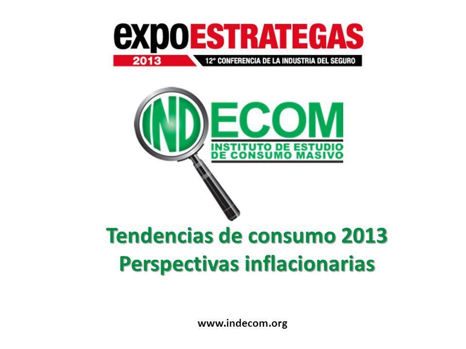 Tendencias de consumo 2013 Perspectivas inflacionarias www.indecom.org