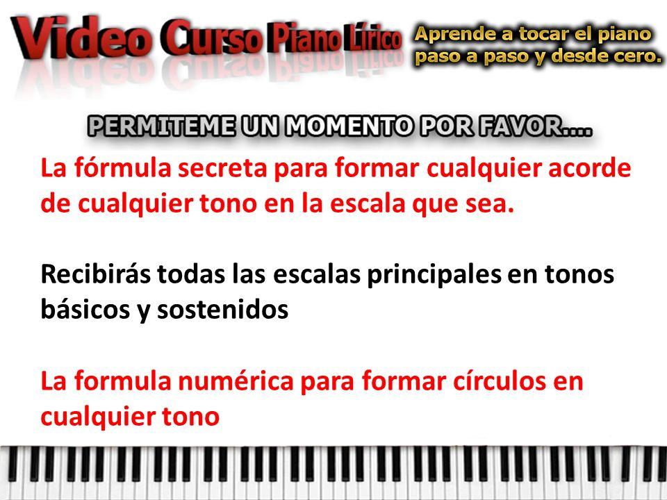 La fórmula secreta para formar cualquier acorde de cualquier tono en la escala que sea.