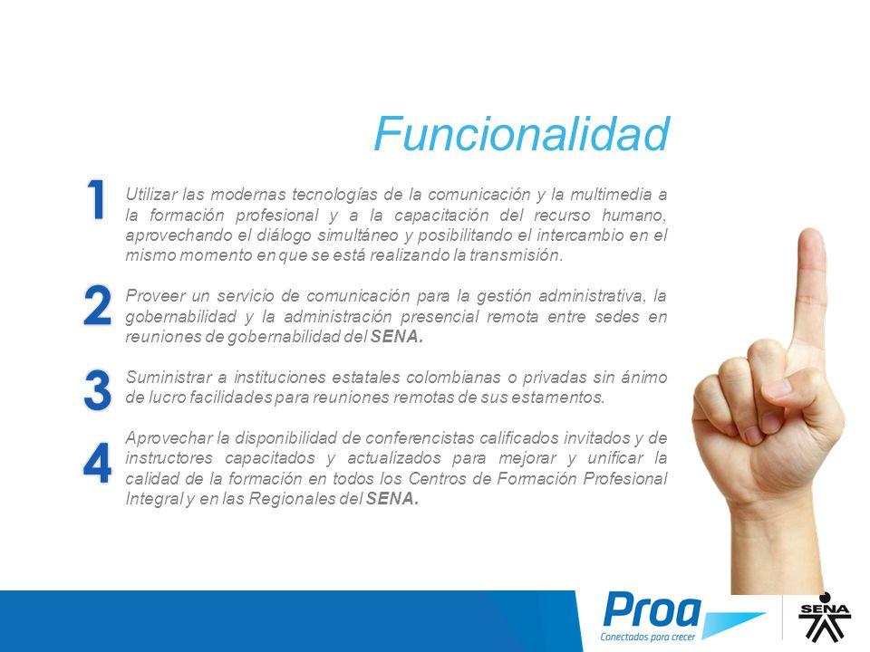 1 Funcionalidad Utilizar las modernas tecnologías de la comunicación y la multimedia a la formación profesional y a la capacitación del recurso humano