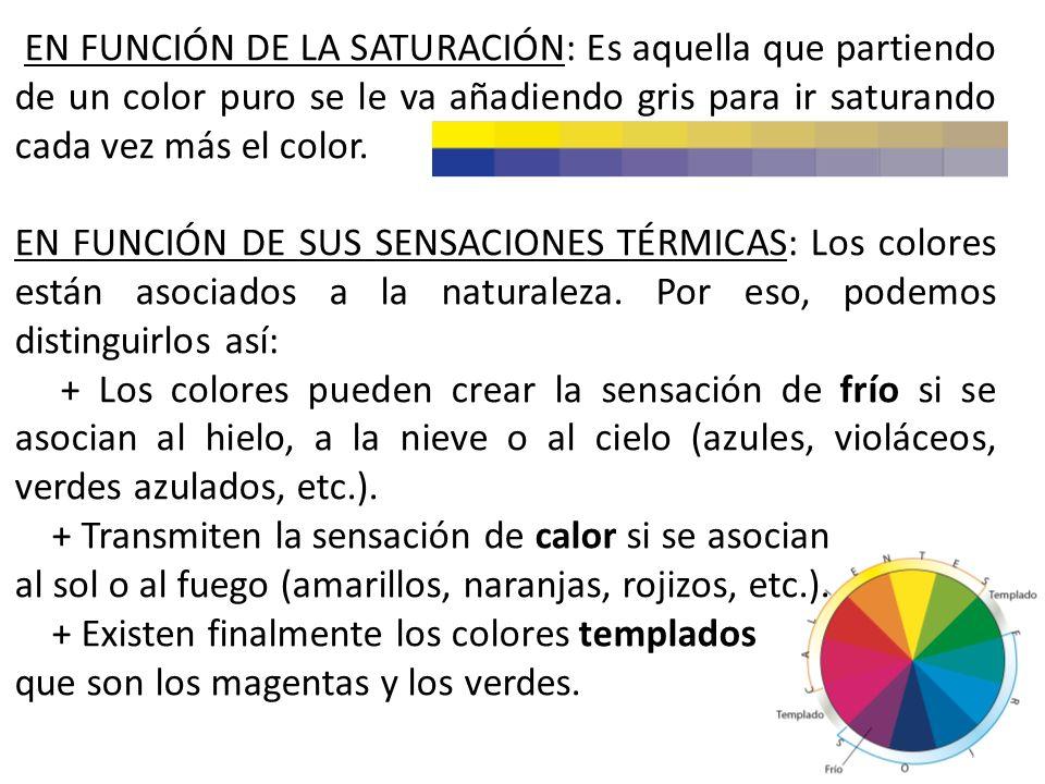 SERIES O GAMAS DE COLOR Las series o gamas se utilizan para agrupar los colores en función de sus diferentes cualidades y nos ayudan a observar las po