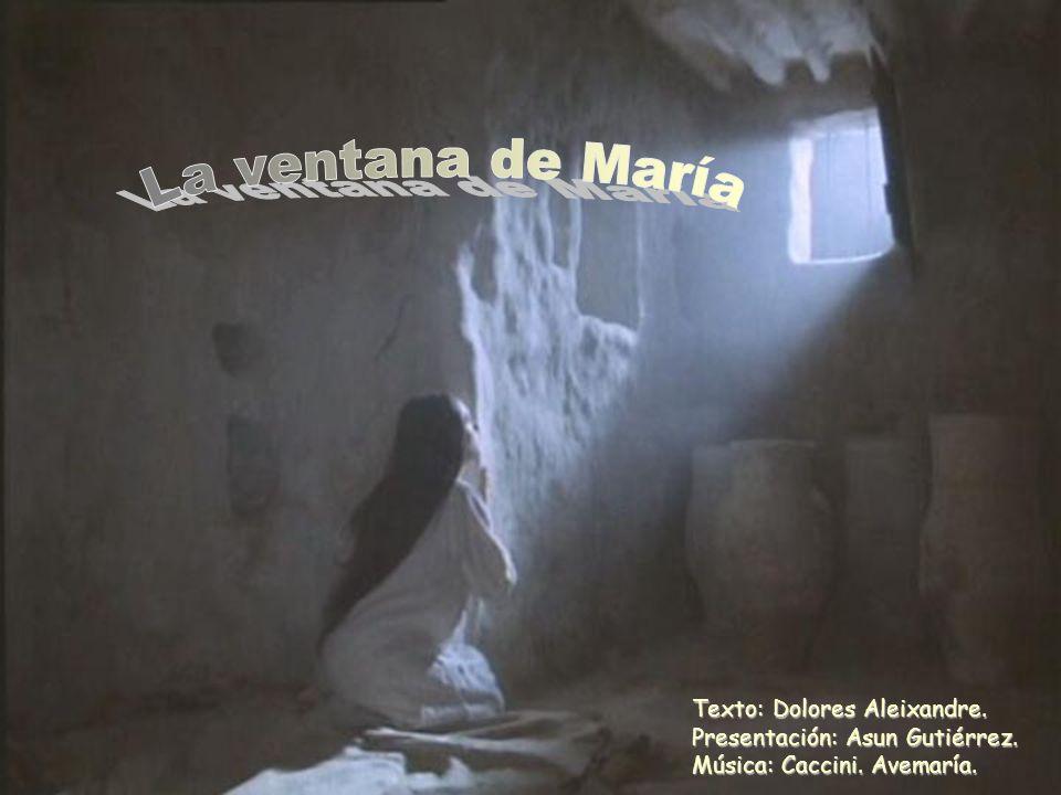 Texto: Dolores Aleixandre. Presentación: Asun Gutiérrez. Música: Caccini. Avemaría.