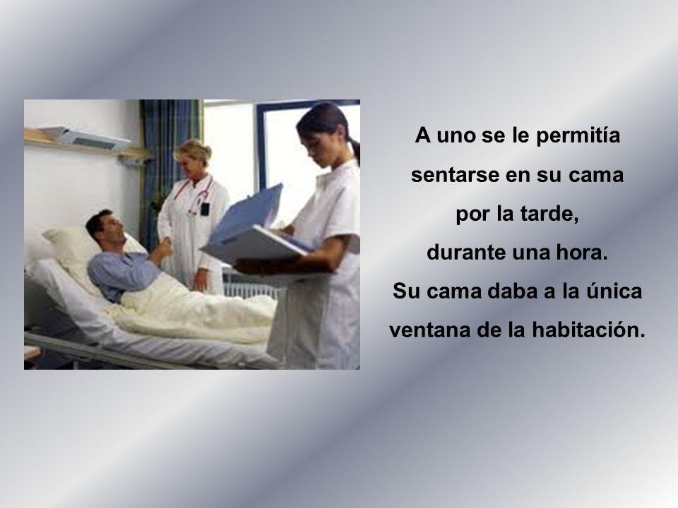 Dos hombres, ambos muy enfermos, ocupaban la misma habitación de un hospital.