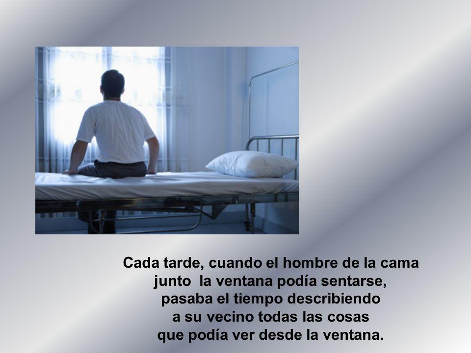 La enfermera, llena de asombro, le dijo La enfermera, llena de asombro, le dijo que el hombre era ciego.