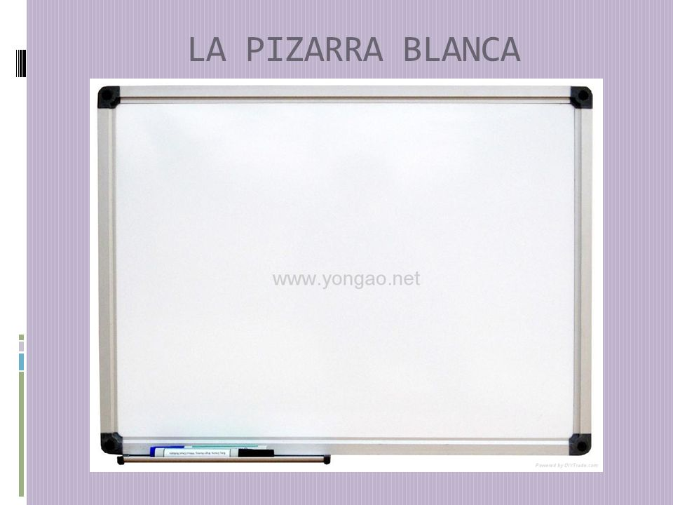 LA PIZARRA BLANCA
