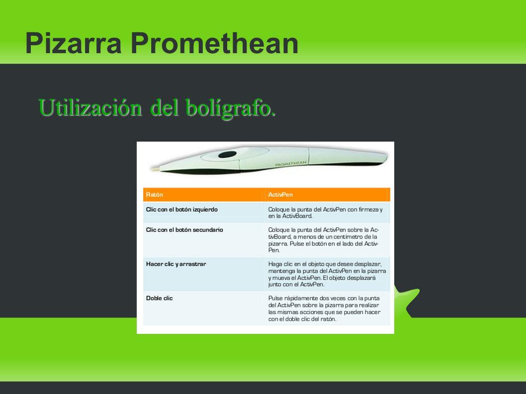 Pizarra Promethean Utilización del bolígrafo.