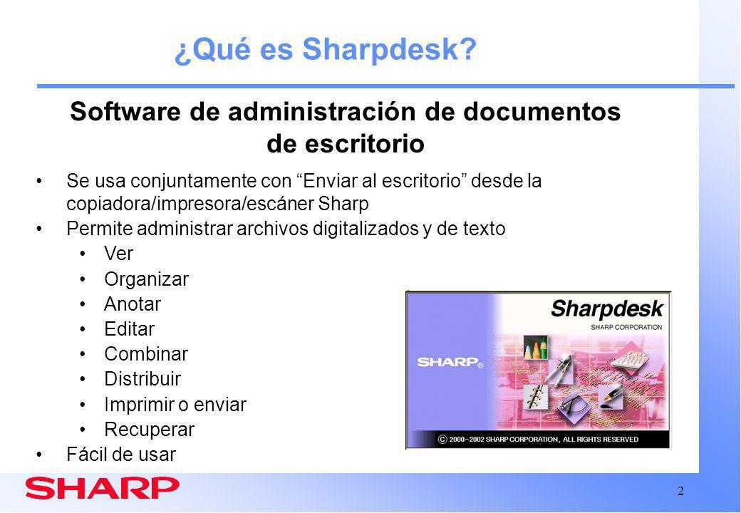 2 ¿Qué es Sharpdesk.