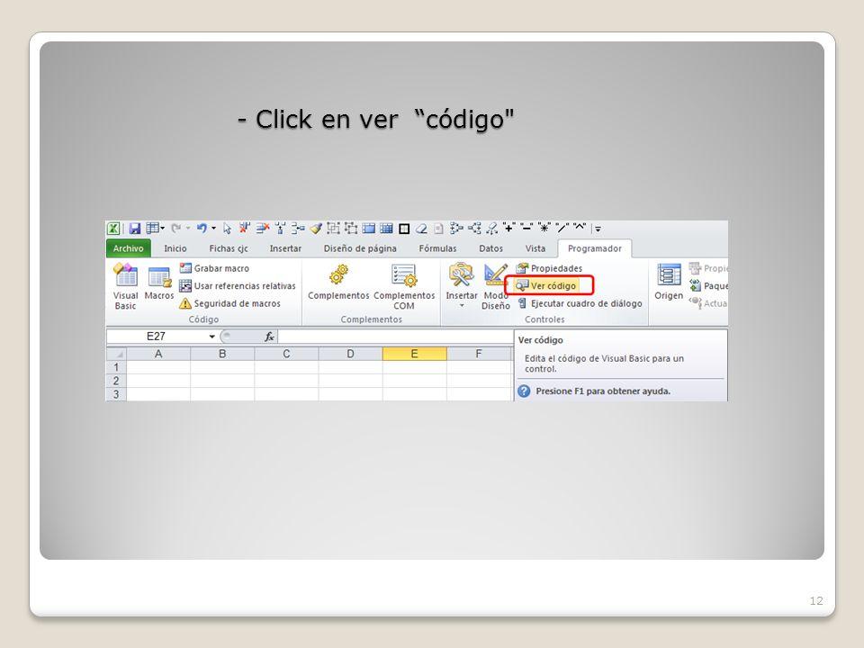 - Click en ver código 12