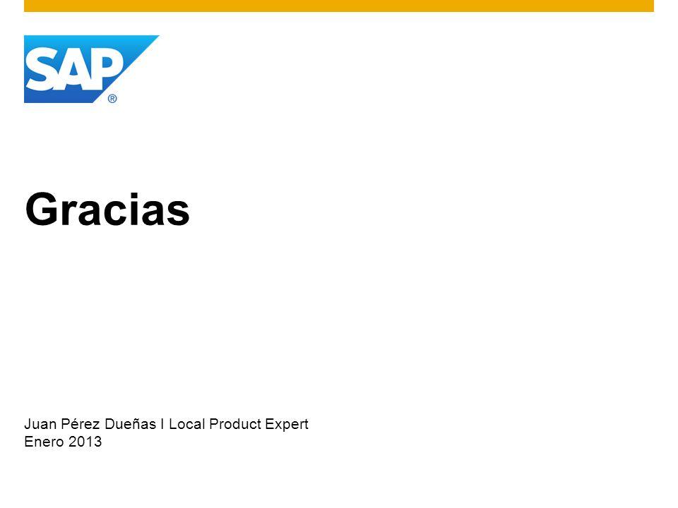 Gracias Juan Pérez Dueñas I Local Product Expert Enero 2013