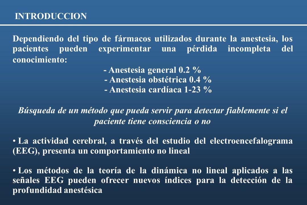 INTRODUCCION Dependiendo del tipo de fármacos utilizados durante la anestesia, los pacientes pueden experimentar una pérdida incompleta del conocimien