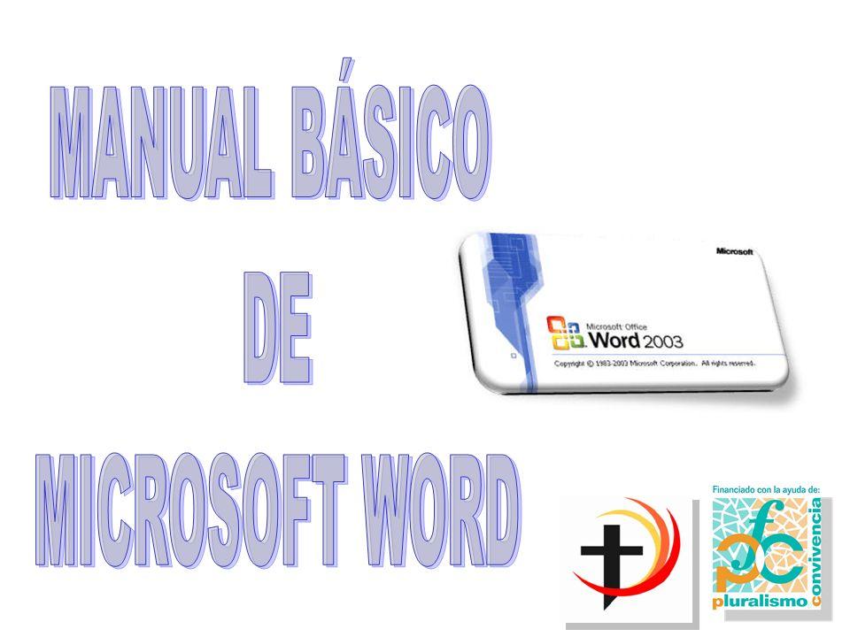 1.PRIMER CONTACTO CON MICROSOFT WORD Para realizar un documento en Microsoft Word, como es lógico, lo primero que hay que hacer es entrar en el programa.
