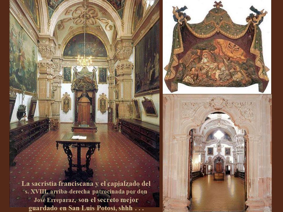 El estilo barroco franciscano nunca fue más estípite que en Aránzazu, la segunda capilla para novicios. No escatima exuberancia y el ángel de la guard
