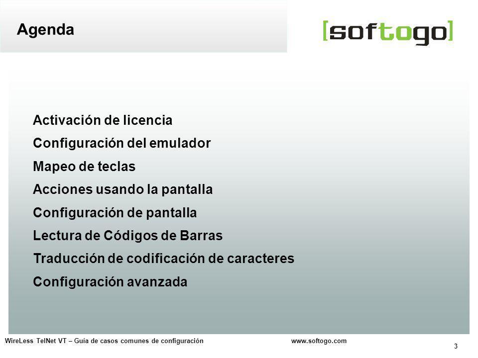 24 WireLess TelNet VT – Guía de casos comunes de configuración www.softogo.com Opciones para mostrar la codificación original UNICODE Traducción de codificación de caracteres Explicación: Seleccione el tipo de traducción.