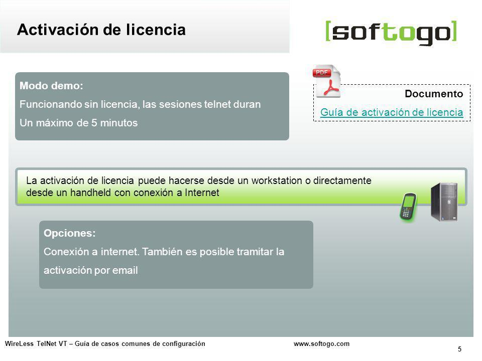 26 WireLess TelNet VT – Guía de casos comunes de configuración www.softogo.com Opción para simular el diálogo entre el handheld y el host ¿Cómo evitar el fin de la sesión.