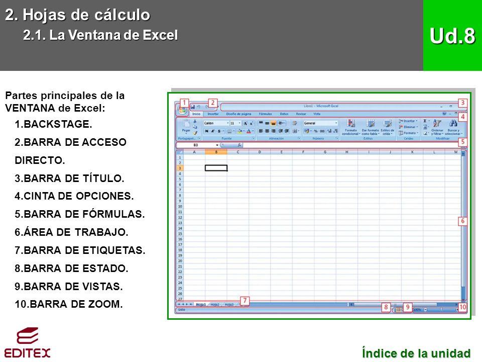 2. Hojas de cálculo 2.1.