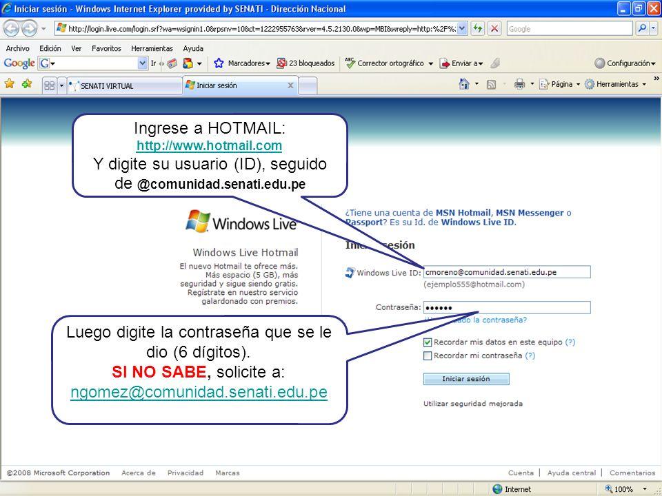 Haga clic en: Select language