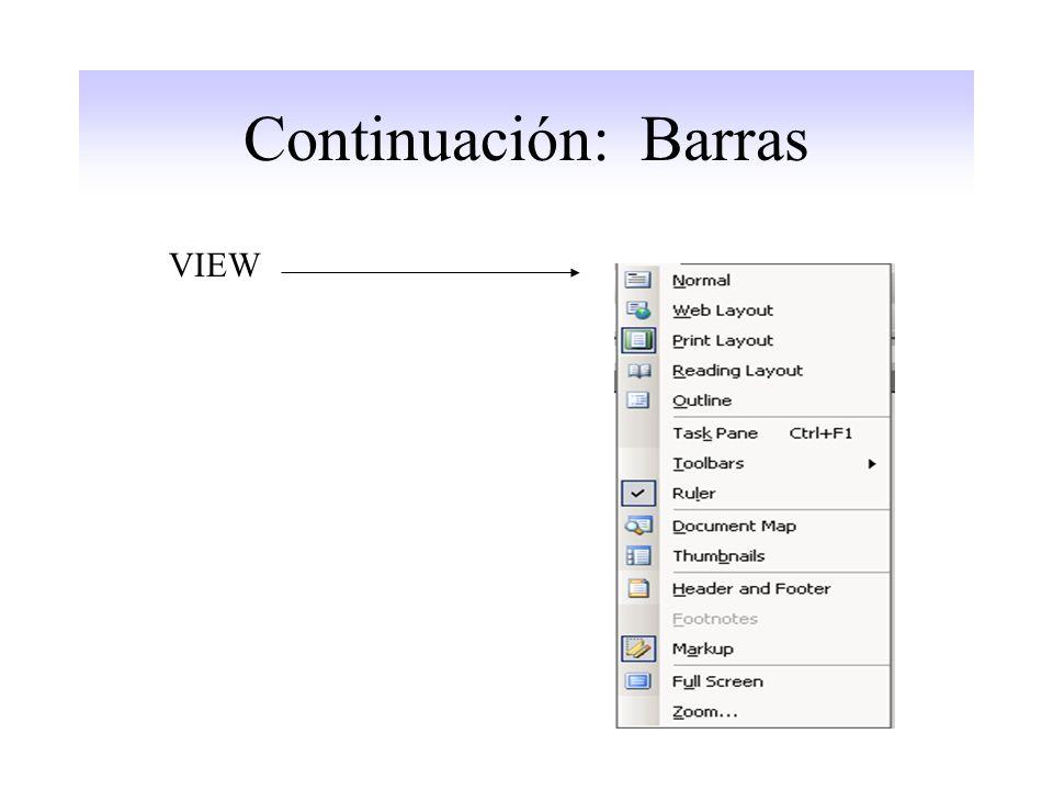 Continuación: Barras VIEW