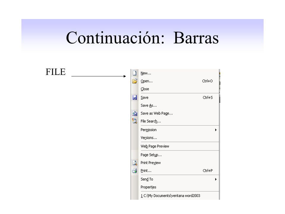 Continuación: Barras FILE