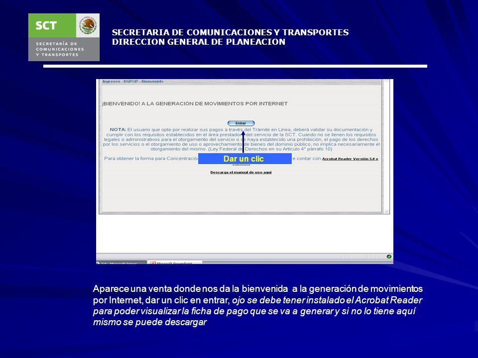 SECRETARIA DE COMUNICACIONES Y TRANSPORTES DIRECCION GENERAL DE PLANEACION Una vez enviado el baucher el Área Recaudadora procede a verificar y registrar el pago para generar la factura