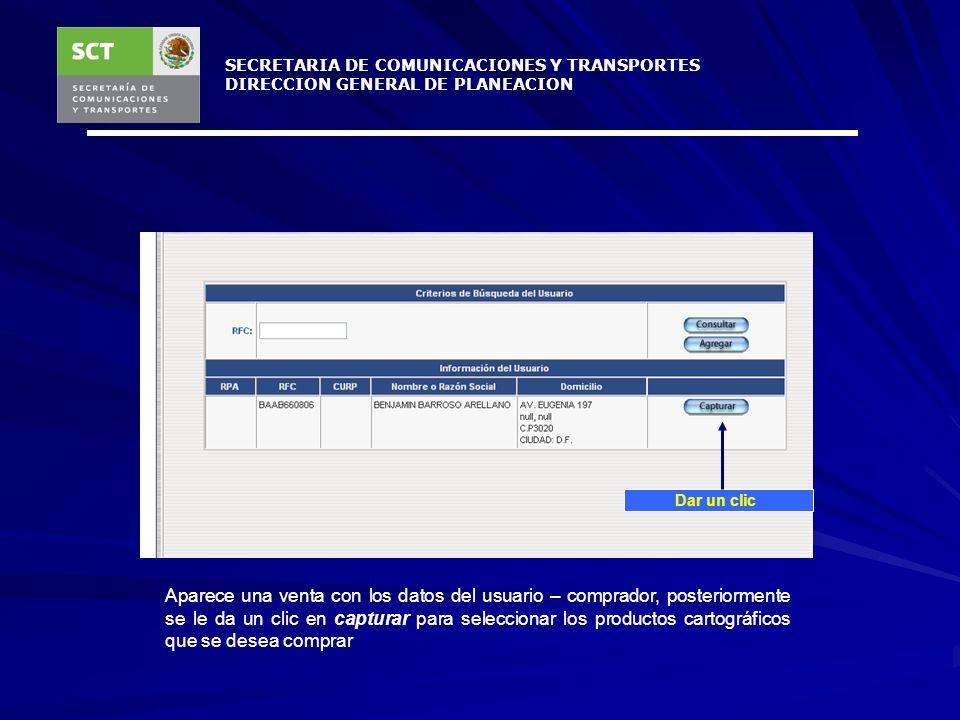 SECRETARIA DE COMUNICACIONES Y TRANSPORTES DIRECCION GENERAL DE PLANEACION Se llenan los campos para registrar al usuario – comprador, cuando es una e