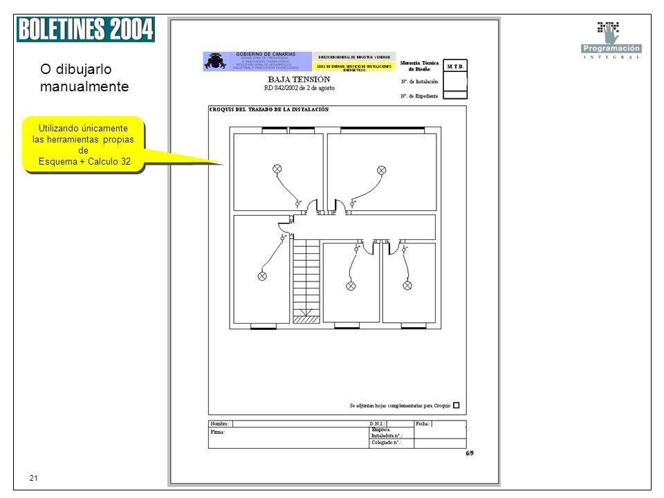 20 Plano de Planta Podemos coger un plano escaneado y PEGARLO Ir agregando los símbolos que cogemos directamente de nuestra librería de Símbolos para
