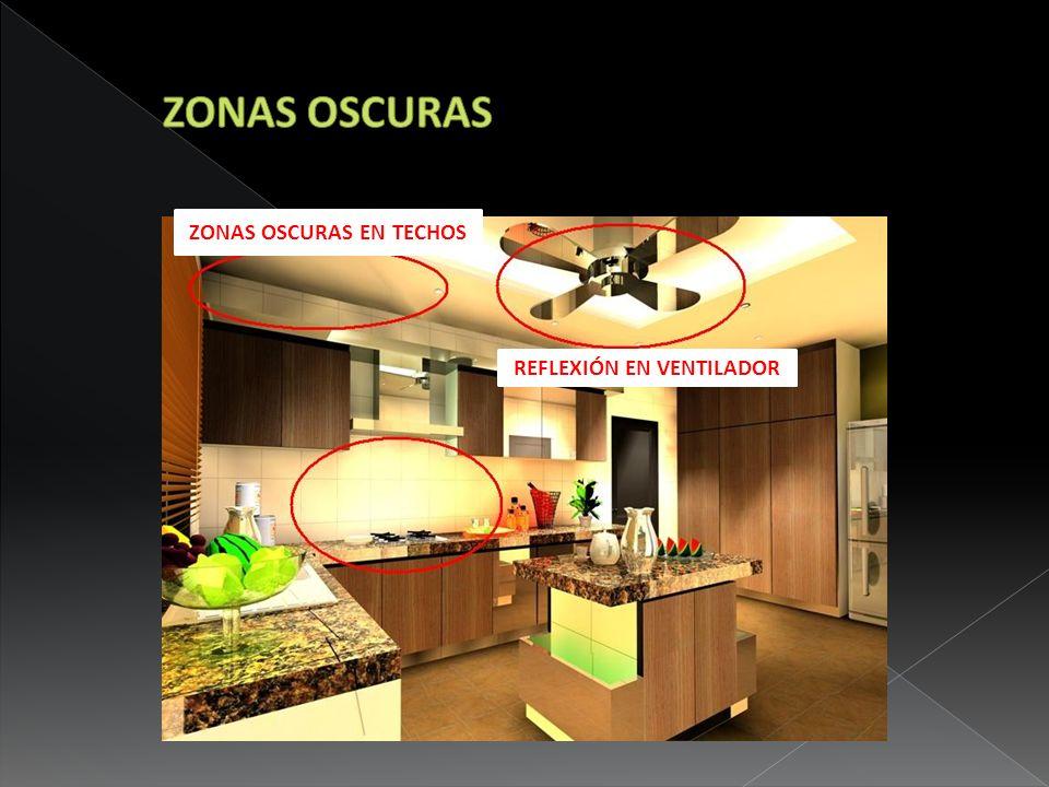 ZONAS OSCURAS EN TECHOS REFLEXIÓN EN VENTILADOR