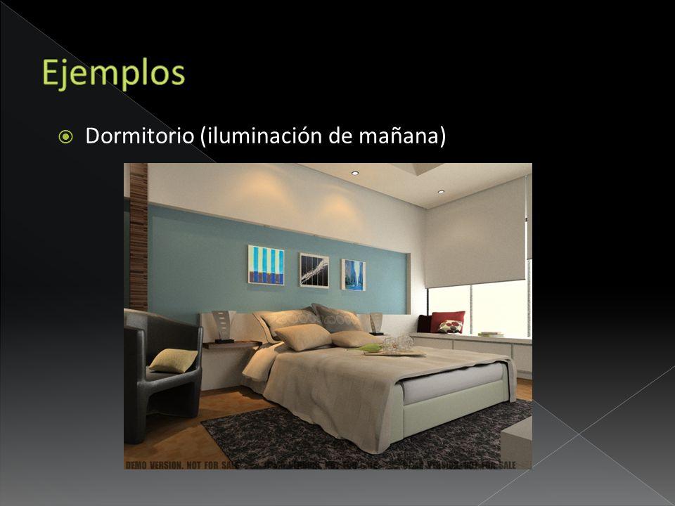 Dormitorio (iluminación de mañana)