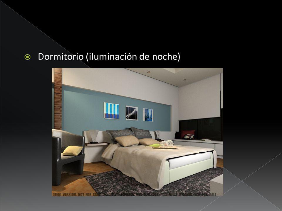 Dormitorio (iluminación de noche)
