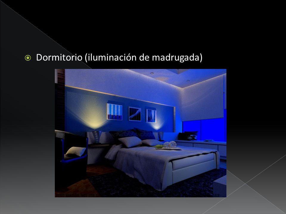 Dormitorio (iluminación de madrugada)