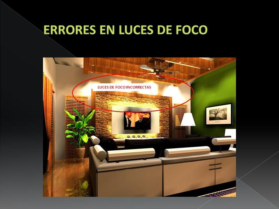 LUCES DE FOCO INCORRECTAS