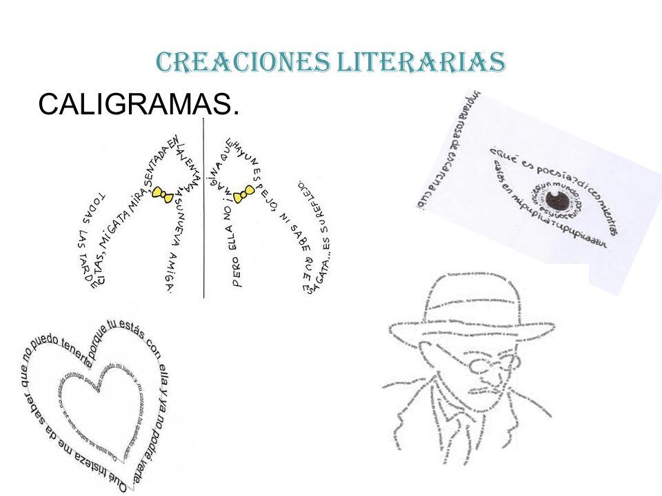 CREACIONES LITERARIAS CALIGRAMAS.