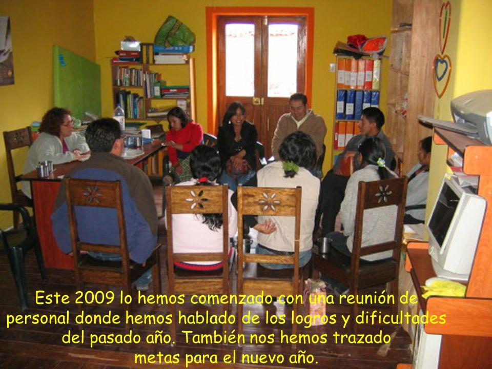 Este 2009 lo hemos comenzado con una reunión de personal donde hemos hablado de los logros y dificultades del pasado año.