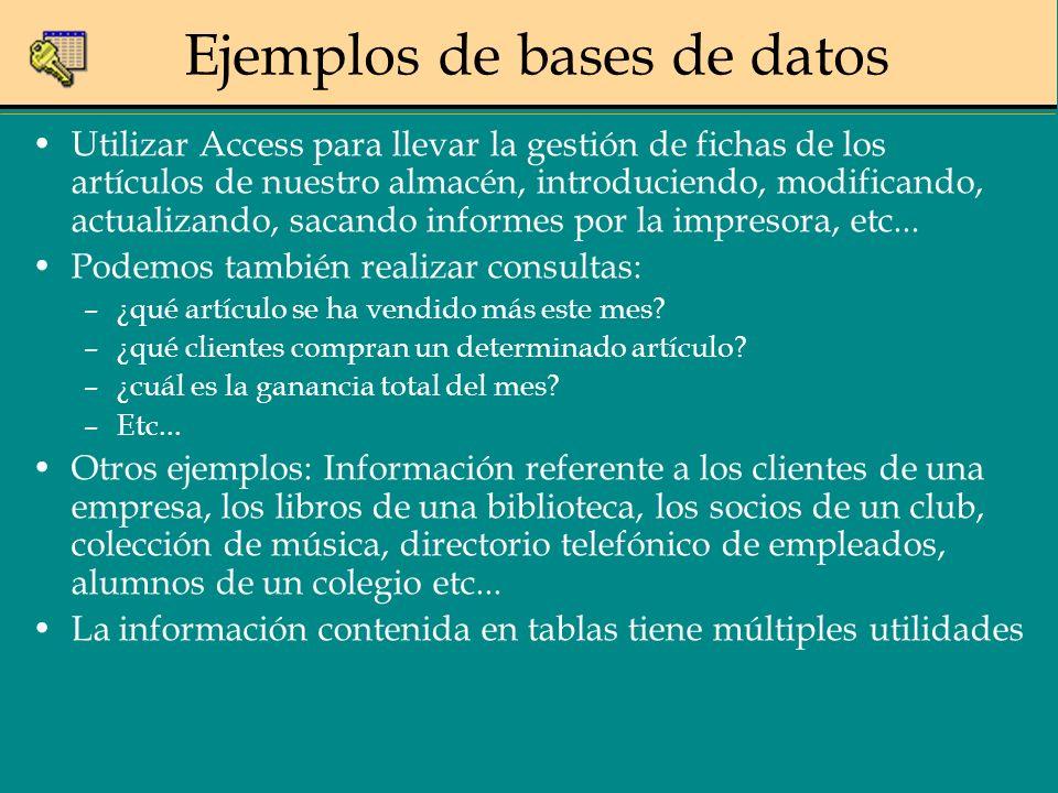 Generalidades Access Gestor de bases de datos relacional.