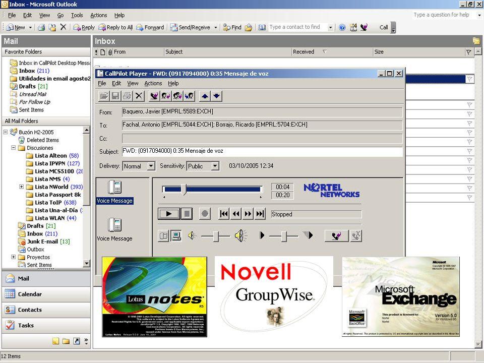 RedIRIS-Univ VIGO 15 NORTEL Call Pilot Buzón de voz y mensajería unificada