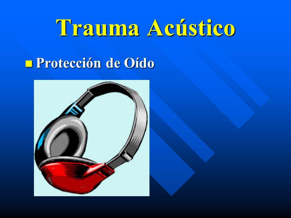 Trauma Acústico Protección de Oído Protección de Oído