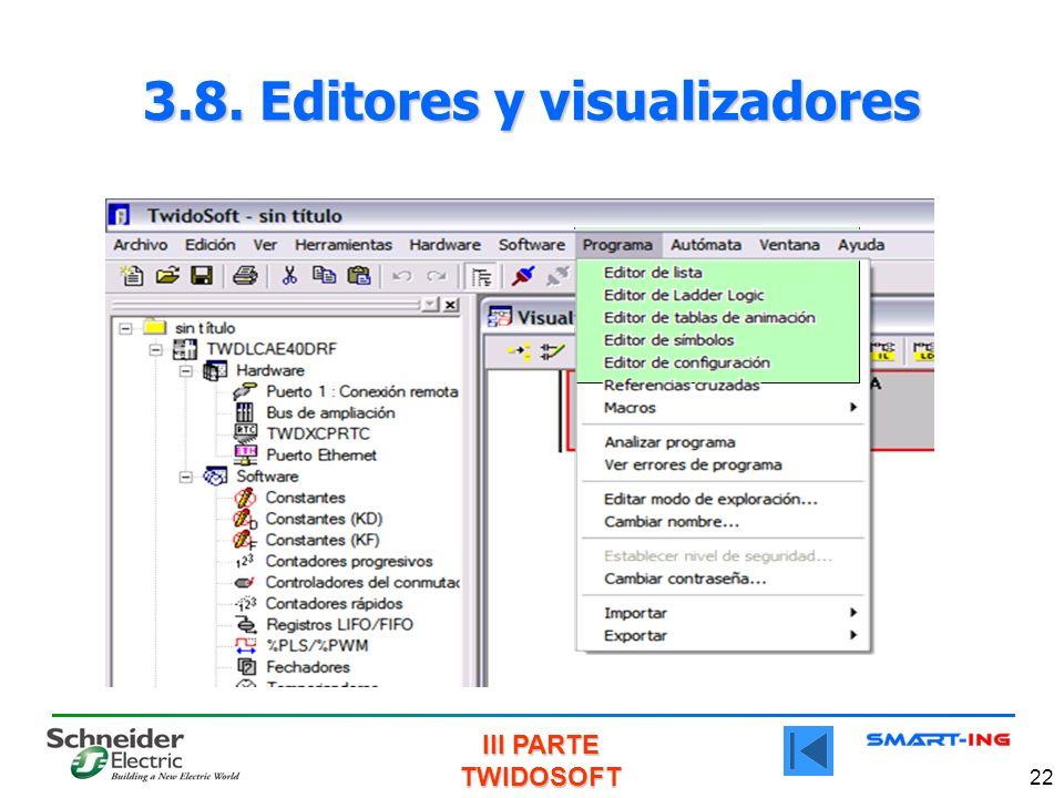 III PARTE TWIDOSOFT 22 3.8. Editores y visualizadores