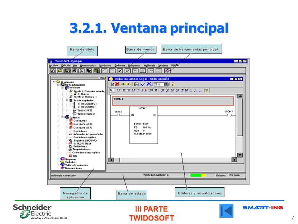 III PARTE TWIDOSOFT 4 3.2.1. Ventana principal