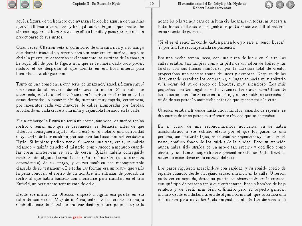 10 Ejemplar de cortesía gratis www.interlectores.com El extraño caso del Dr.