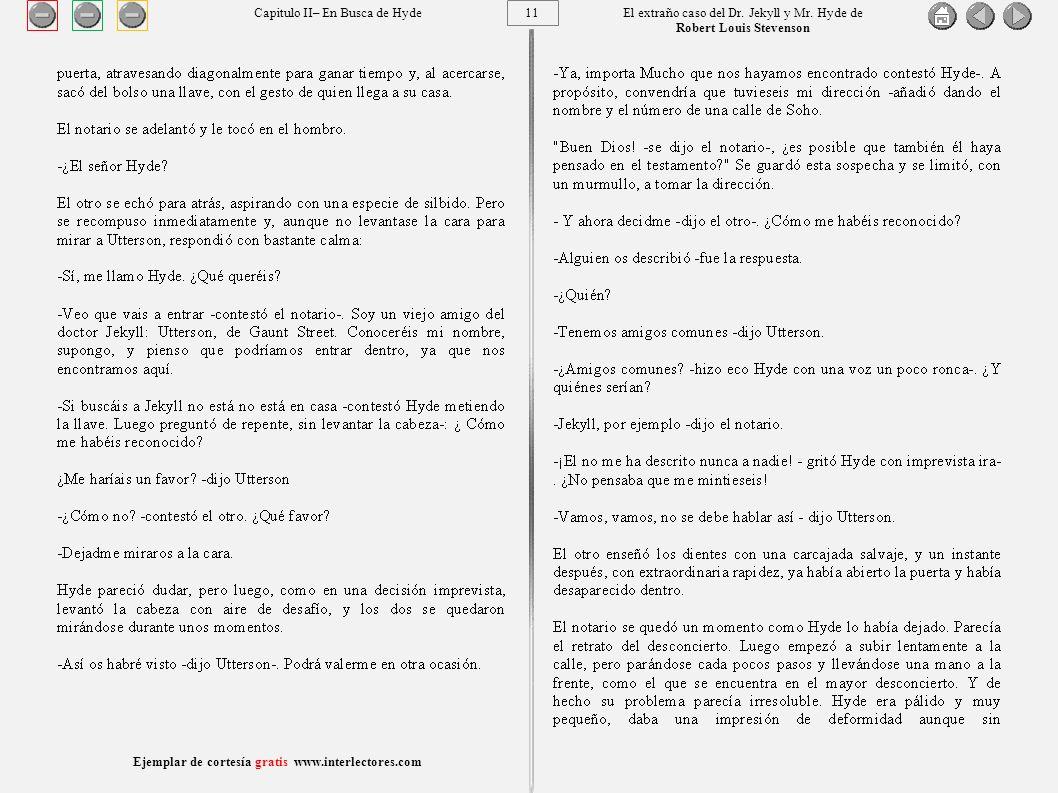 11 Ejemplar de cortesía gratis www.interlectores.com El extraño caso del Dr.