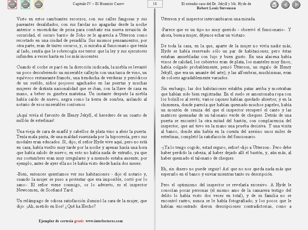 18 Ejemplar de cortesía gratis www.interlectores.com El extraño caso del Dr.