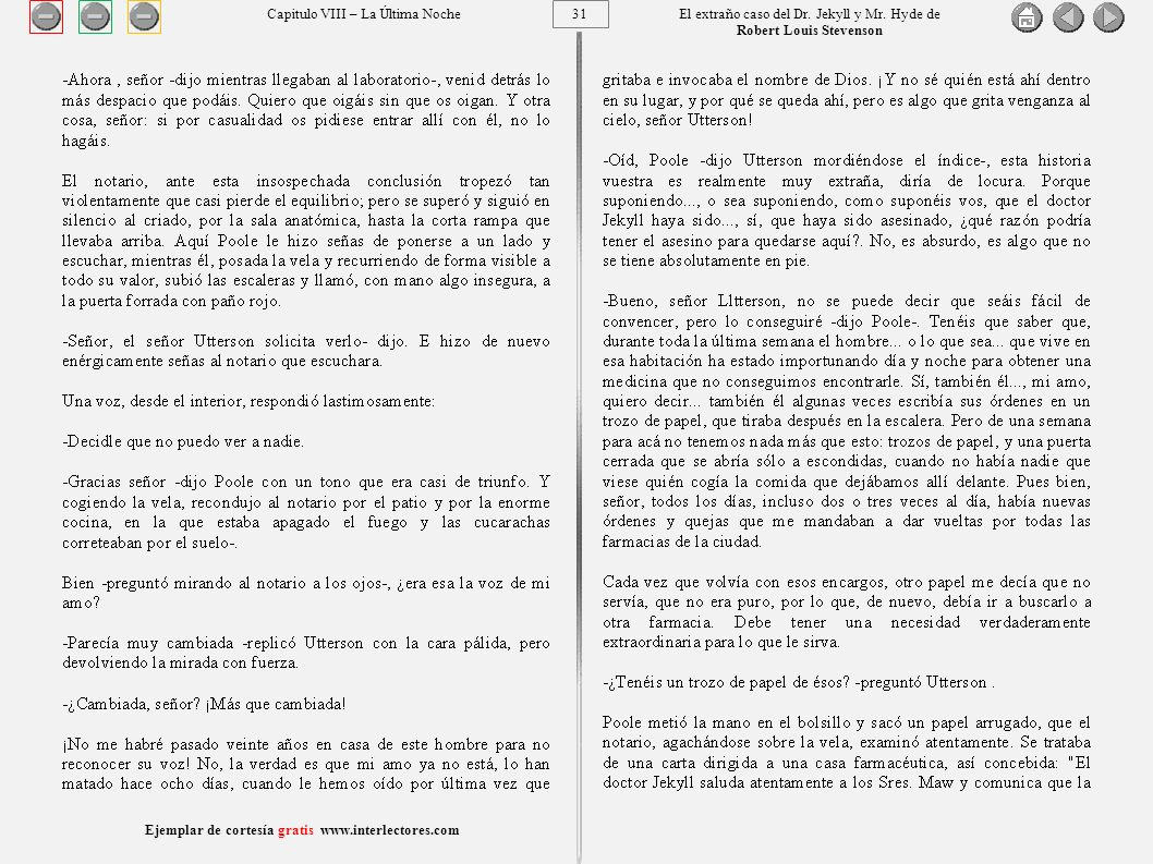 31 Ejemplar de cortesía gratis www.interlectores.com El extraño caso del Dr.