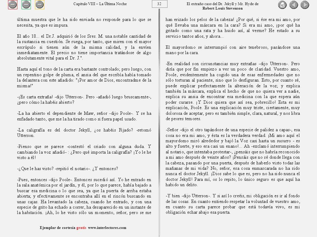 32 Ejemplar de cortesía gratis www.interlectores.com El extraño caso del Dr.