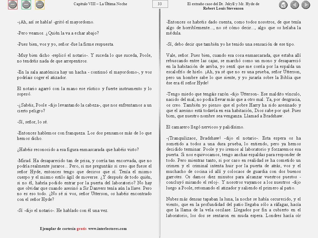 33 Ejemplar de cortesía gratis www.interlectores.com El extraño caso del Dr.