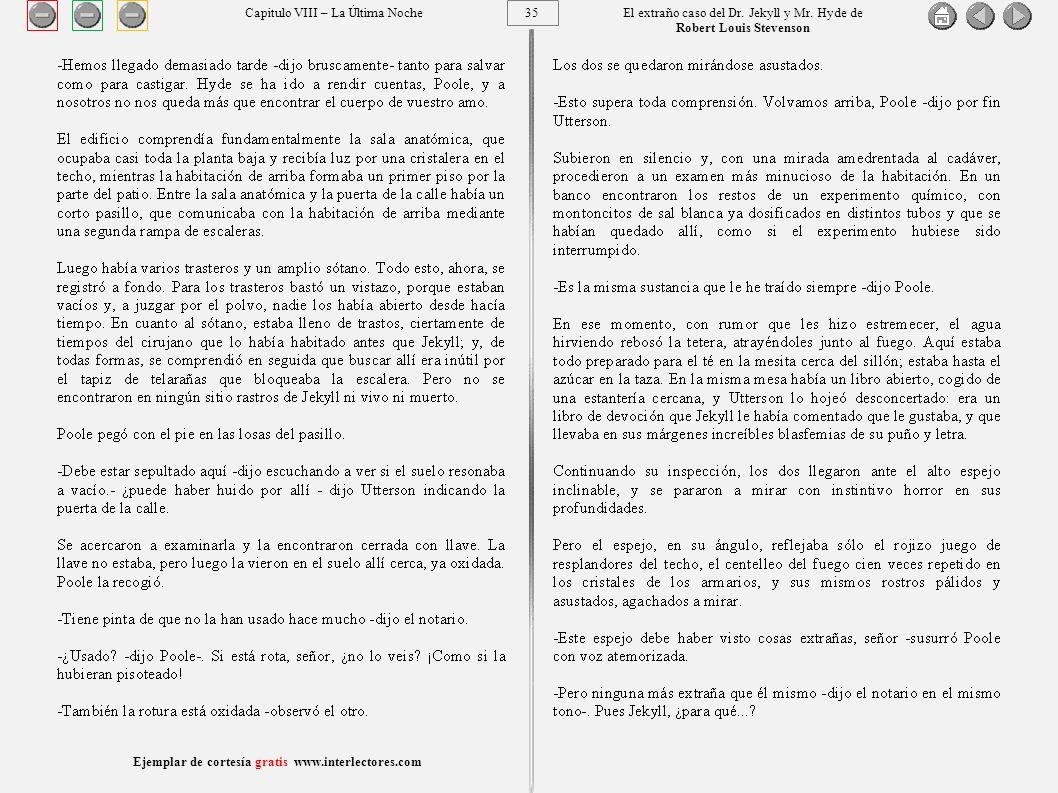 35 Ejemplar de cortesía gratis www.interlectores.com El extraño caso del Dr.