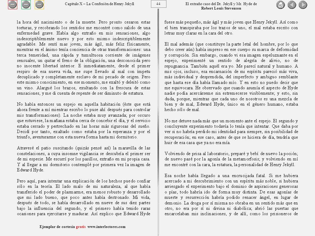 44 Ejemplar de cortesía gratis www.interlectores.com El extraño caso del Dr.