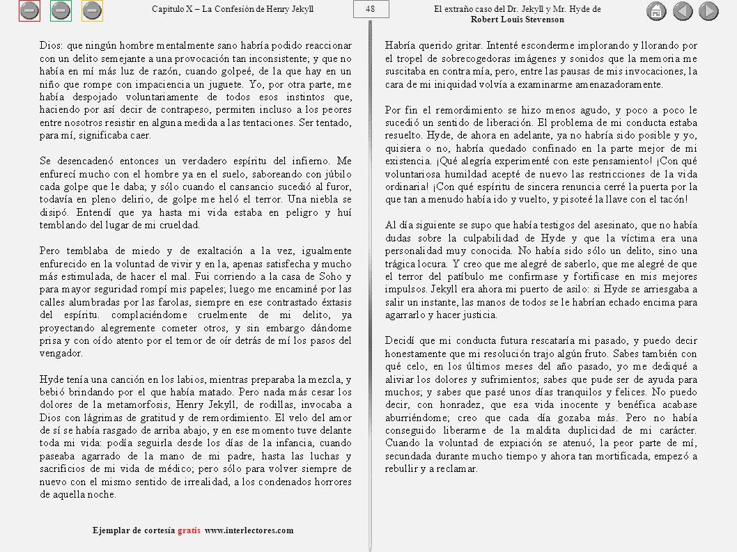 48 Ejemplar de cortesía gratis www.interlectores.com El extraño caso del Dr.