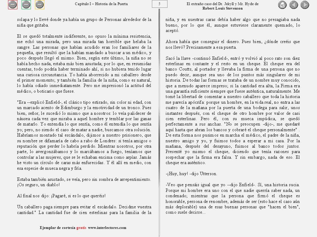 5 Ejemplar de cortesía gratis www.interlectores.com El extraño caso del Dr.