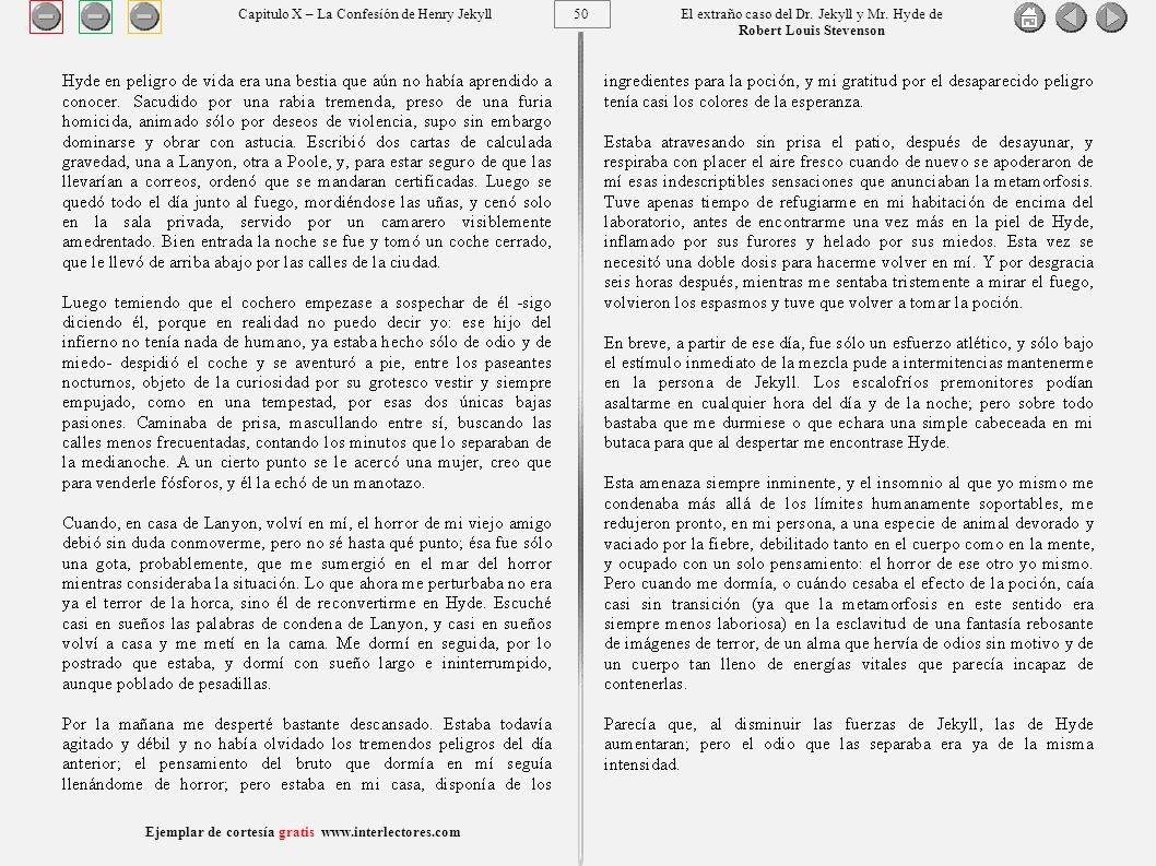 50 Ejemplar de cortesía gratis www.interlectores.com El extraño caso del Dr.