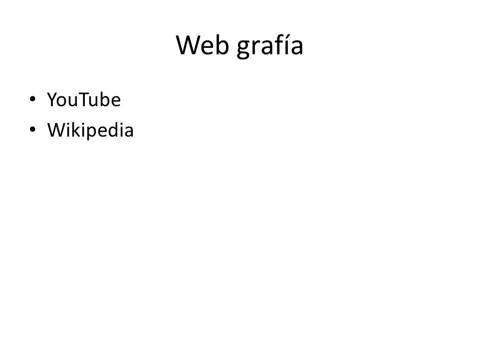 Web grafía YouTube Wikipedia